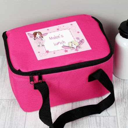 Fairy Personalised Pink Lunch Bag